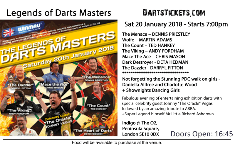 the masters darts