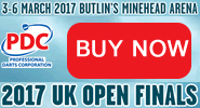 Buy UK Open Darts Tickets Minehead Butlins.