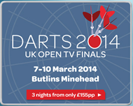 Speedy Sevices PDC UK Open Darts Tickets Butlins Holiday Centre.