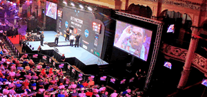 Blackpool Winter Gardens Empress Ballroom World Match Play Darts.