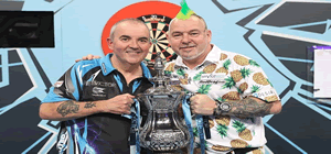 Phil Taylor World MatchPlay Darts Champion.