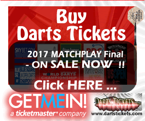 Buy Darts Tickets.