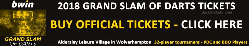 Buy Grand Slam of Darts Tickets 2018.
