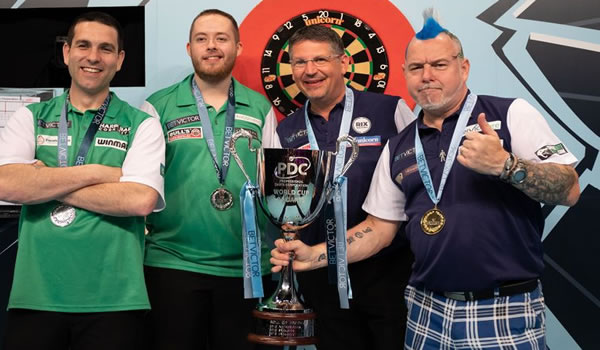 Scotlands Gary Anderson & Peter Wright PDC World Cup Winners 2019.