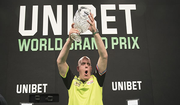 Michael van Gerwen Grand Prix Darts Winner 2018.