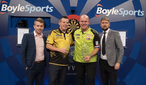 Michael van Gerwen Grand Prix Darts Winner 2019.